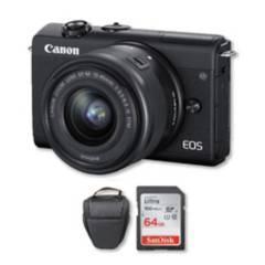 Canon - Canon m200 4k con lente 15-45mm + memoria + bolso