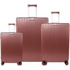 BIN COLOMBIA - Juego set maletas x2 20,28 pulg.bin t029 oro rosa