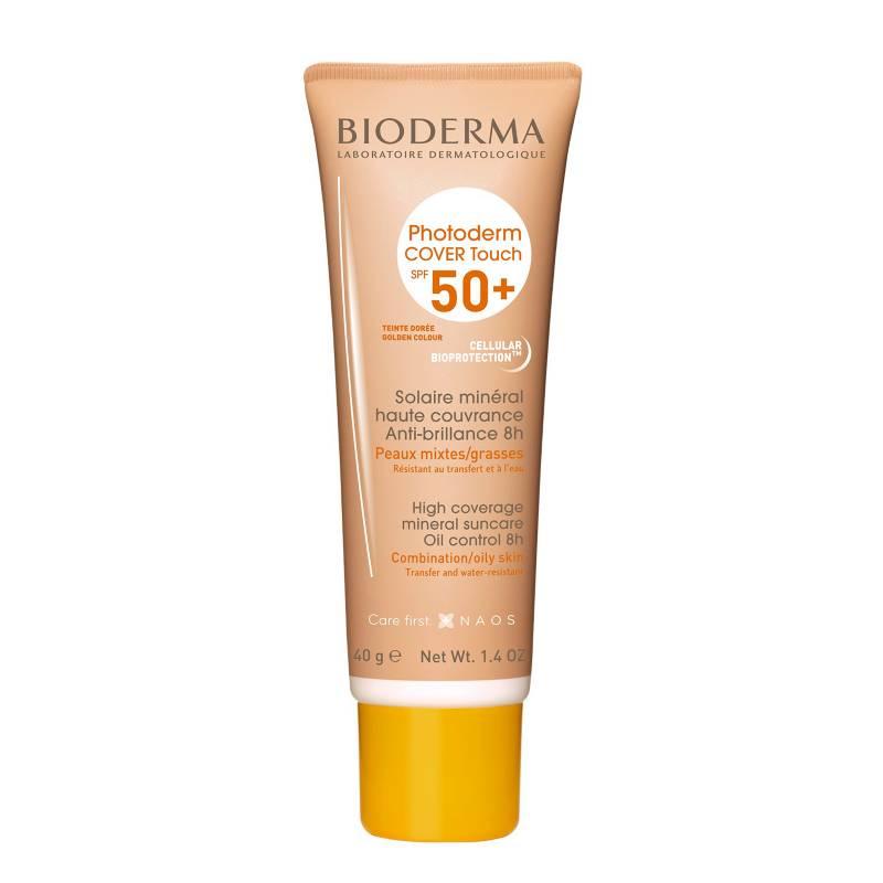 Bioderma - Bioderma Photoderm Cover Touch Dorado SPF 50 protector solar para piel mixta a grasa 40mL