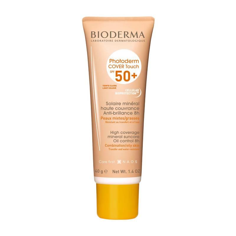 Bioderma - Bioderma Photoderm Cover Touch Claro SPF 50 protector solar para piel mixta a grasa 40mL