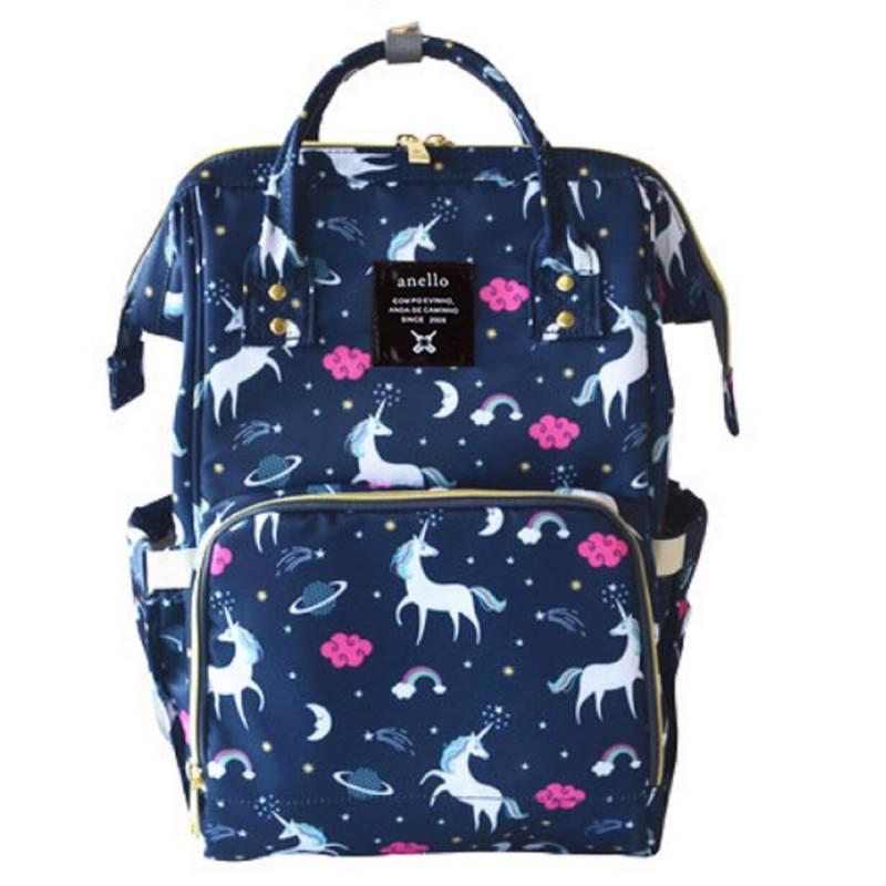 MUNDO BEBE - Pañalera unicornio azul morral mochila