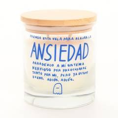 "Iluminata By Amalia Andrade - Vela Aromática ""Ansiedad"" Canela Cipres Parafina 9 x 8 cm"