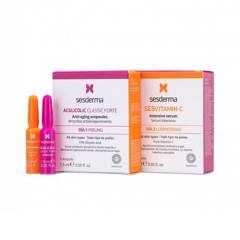 Sesderma - Set de Cuidado Facial Peeling Sesderma 1 ampolla de Sesvitamin-C y 1 ampolla de Acglicolic forte