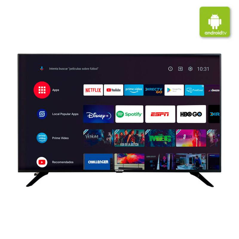 Challenger - Televisor Challenger 50 Pulgadas LED 4K Ultra HD Smart TV