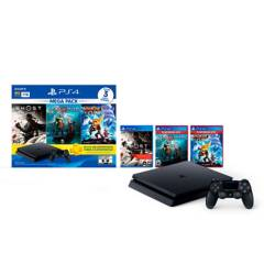 PlayStation - Consola PS4 Mega18 + 3 Juegos + 3 Meses Psplus 1TB