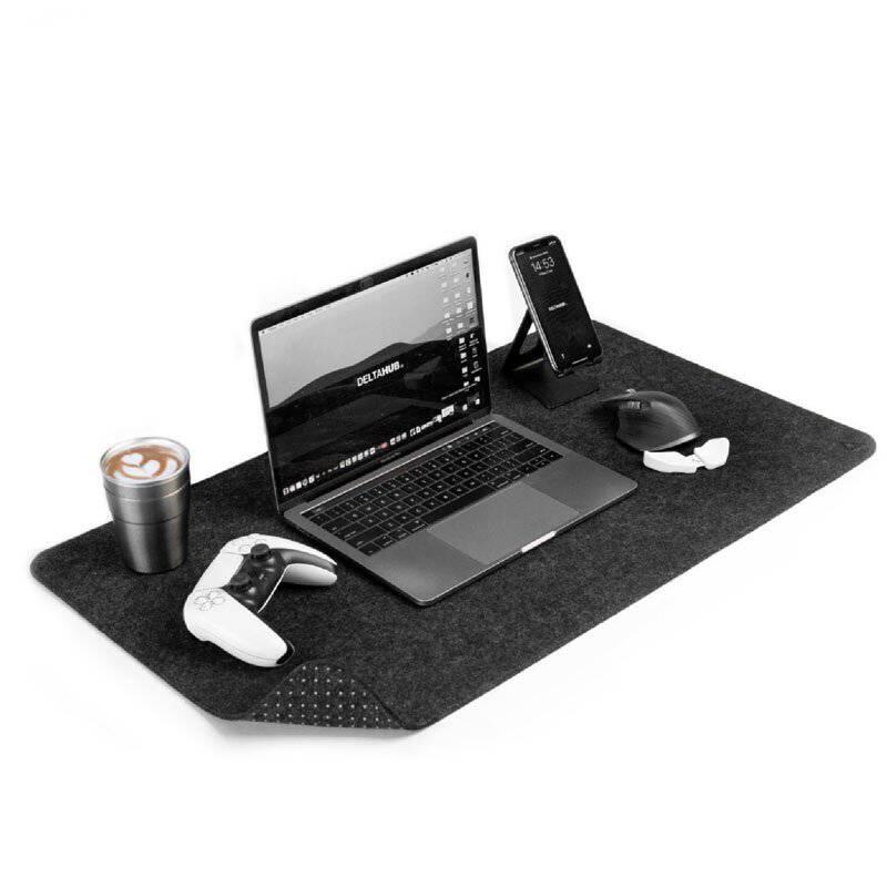 DELTAHUB - Desk pad para escritorio - gris - tamaño l