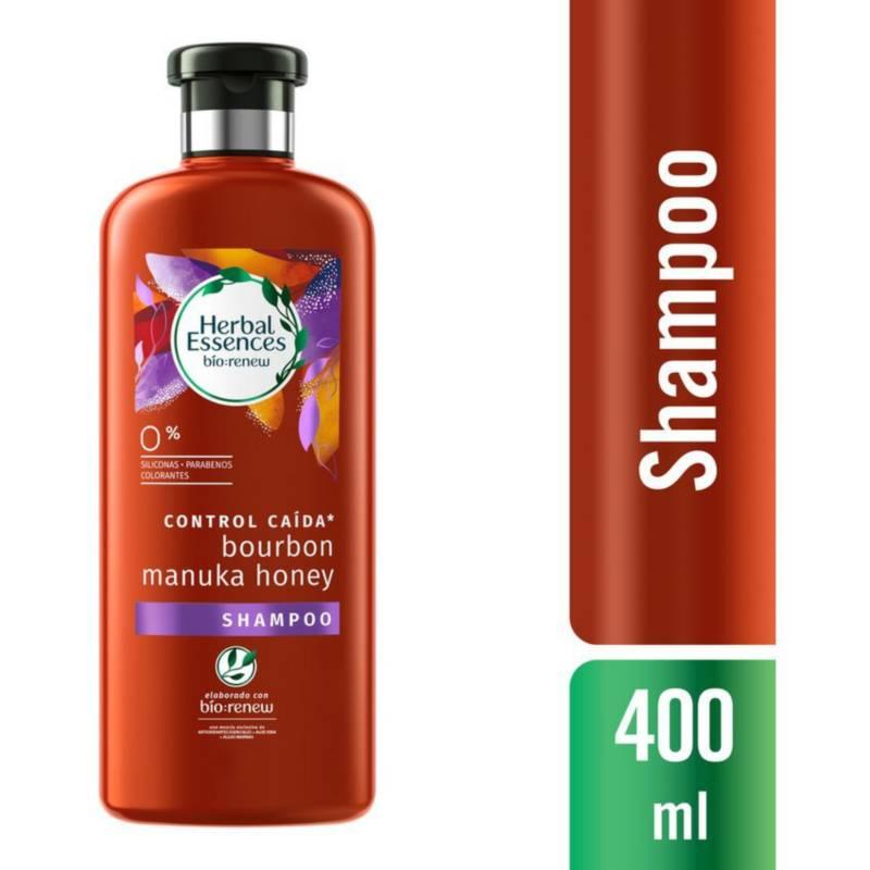 Herbal Essences - Shampoo Bío Renew Bourbon Manuka Honey 400 ml