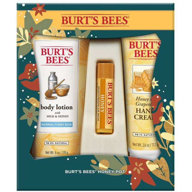 Burts Bees - Set De Tratamiento Facial Hidratante Honey Pot.