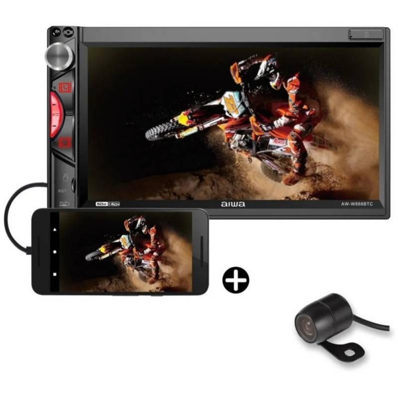 Aiwa - Radio carro pantalla tactil 6.9 mirrorlink carplay