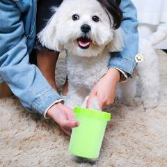 GENERICO - Limpiador de patas para mascotas portátil