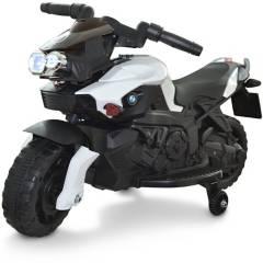 GENERICO - Moto Eléctrica Montable Recargable Tipo Bmw  3V Blanca