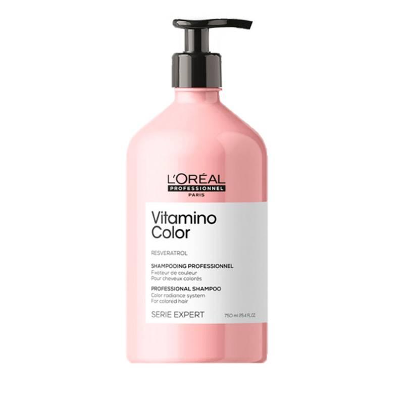 Loreal Serie Expert - Shampoo Loreal Serie Expert Cabello Coloreado Vitamino Color Protección del color 750 ml