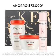 Kerastase - Set Cuidado Capilar Kerastase Nutritive Hidratación: Shampoo 250 ml + Mascarilla 200 ml+ Shampoo Seco 34 g