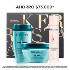 Kerastase - Set Cuidado Capilar Kerastase Resistance Cabello en Emergencia: Shampoo 250 ml + Mascarilla 200 ml +  Shampoo Seco 34 g