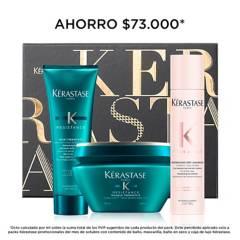 Kerastase - Set Cuidado Capilar Kerastase Resistance Cabello Dañado : Shampoo 250 ml + Mascarilla 200 ml + Shampoo Seco 34 g