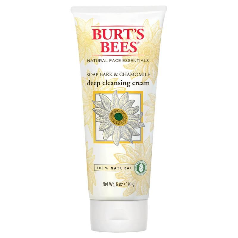 Burts Bees - Crema de Limpieza Profunda con Extracto de Corteza y Manzanilla 110g