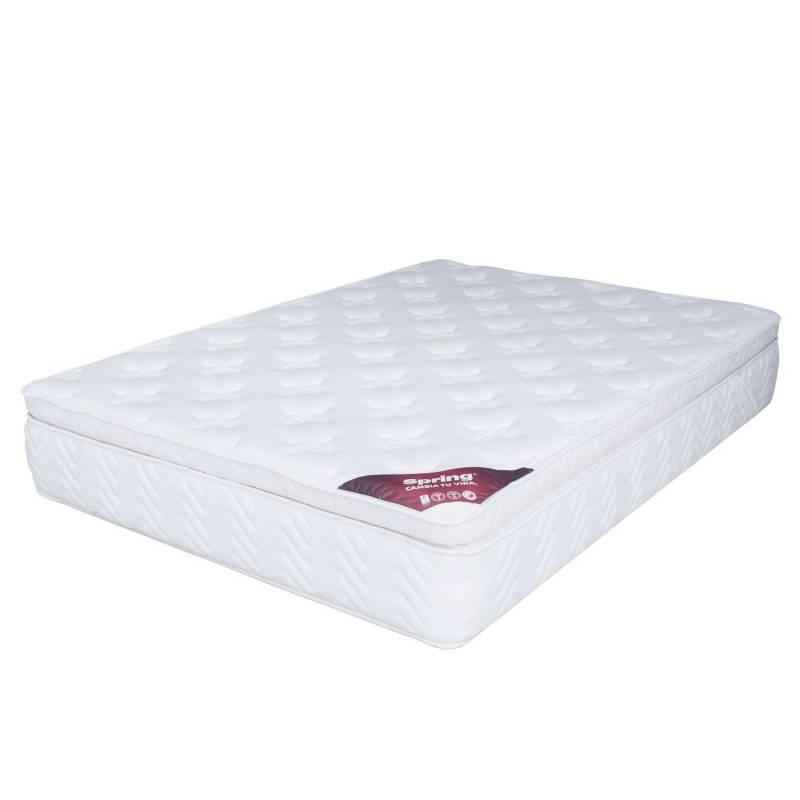 Colchones Spring - Colchón Sencillo Comfort 1 Box Intermedio