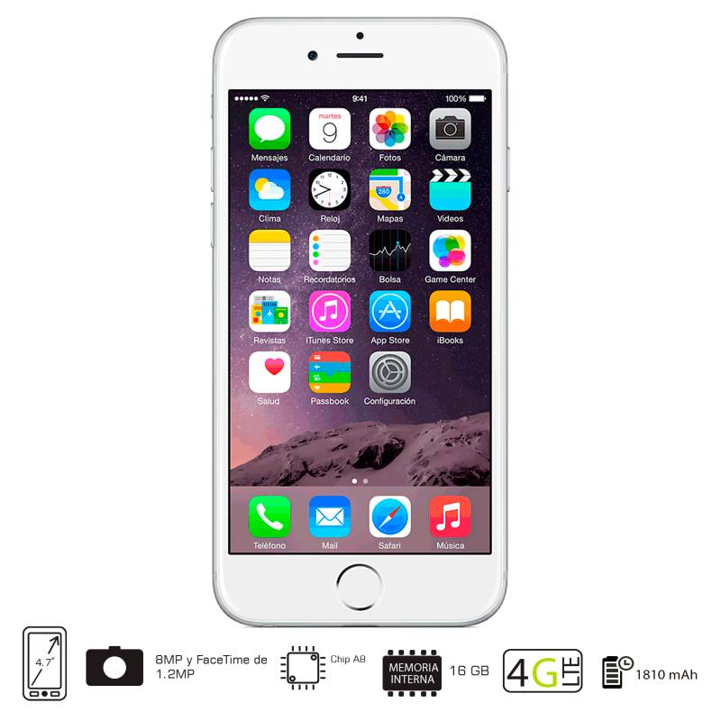Apple - iPhone 6 16GB Plateado Libre