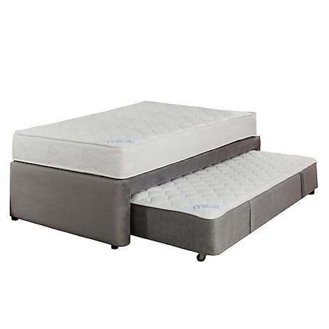 Mica set plenitud cama div n semidoble gris for Cama semidoble