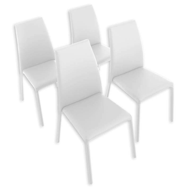 Mica - Combo Sillas de Comedor Loft x4 Blanco