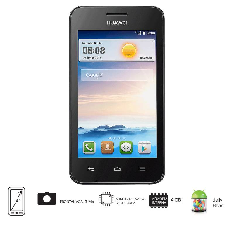 Huawei - Celular Libre Y330 Blanco DS