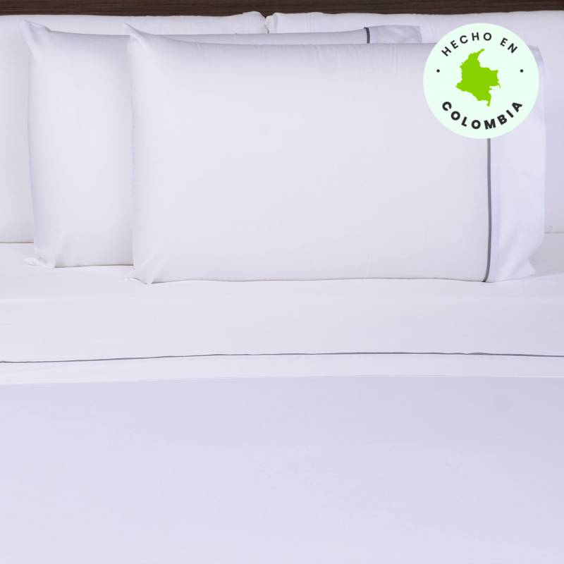 Basement Home - Juego de Sábanas 400 Hilos Algodón Hotel Collection