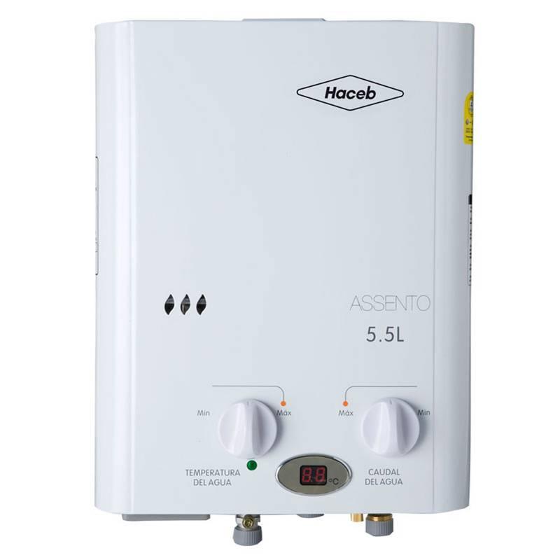 Haceb - Calentador de Agua a Gas 5,5 lt/m | ASCPG-5.5