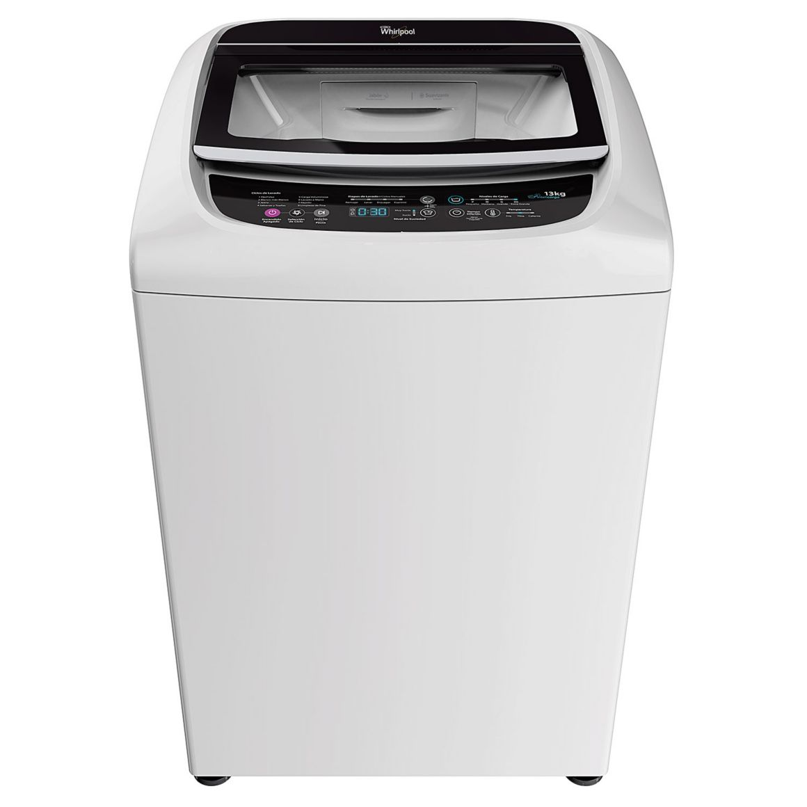 Lavadora de 13 Kg Turbo Power de Whirlpool color blanco