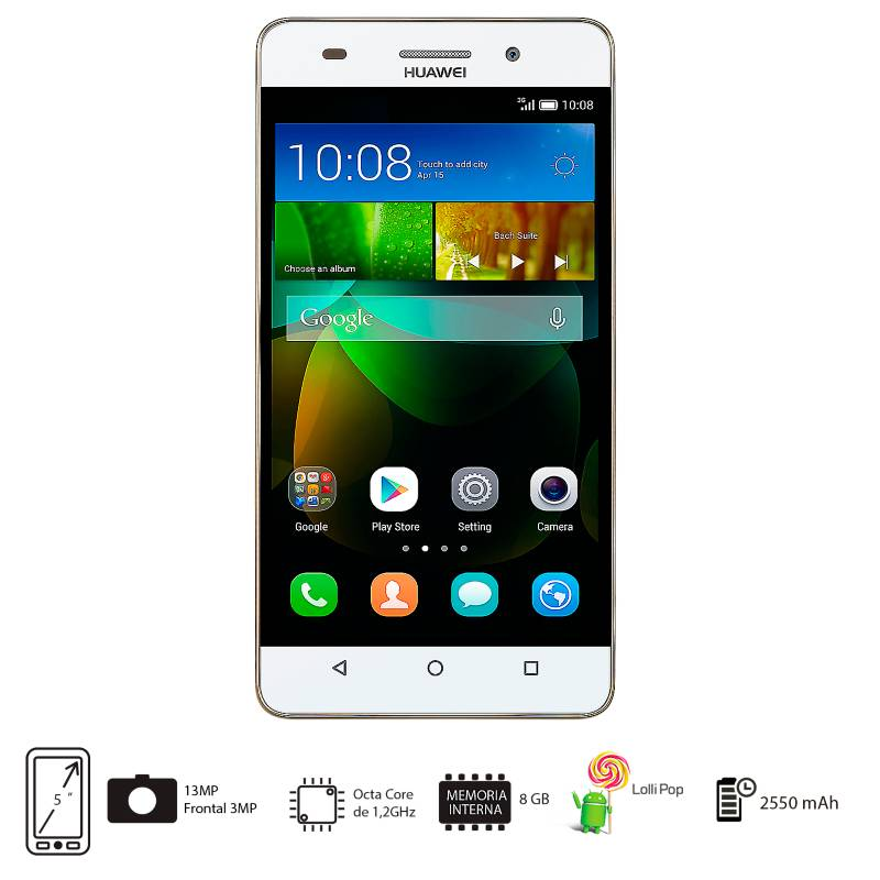 Huawei - Celular Libre G Play Mini Blanco