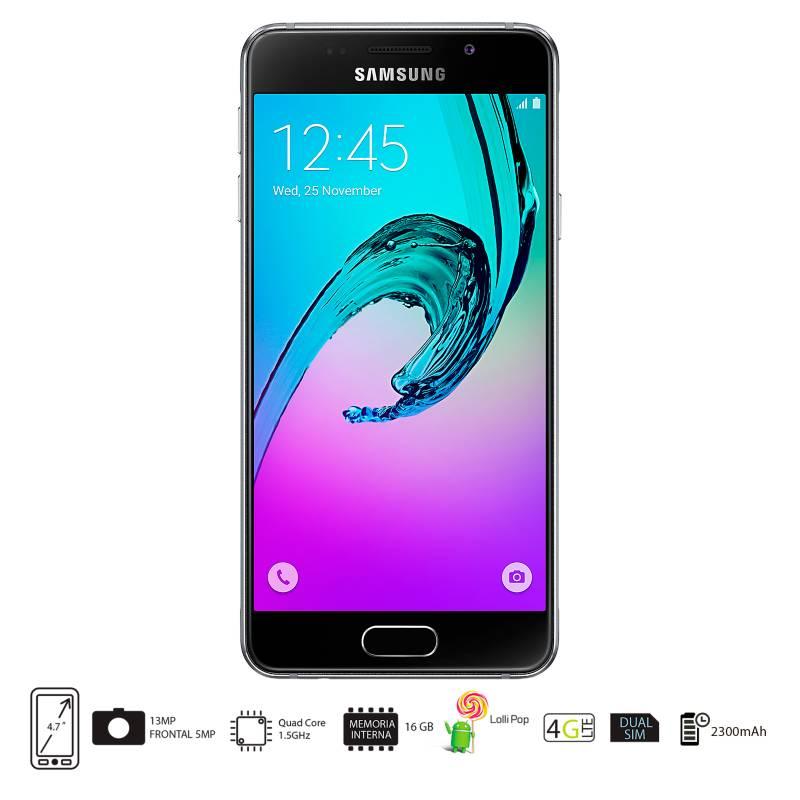 Samsung - Galaxy A3 Negro DS Celular Libre