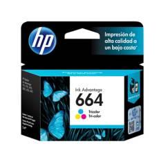 HP - Cartucho de Tinta 664 Tricolor