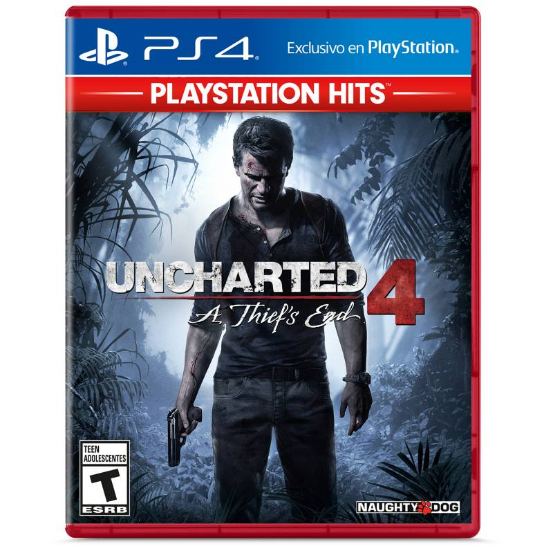 PlayStation 4 - Videojuego Uncharted 4: A Thief's End