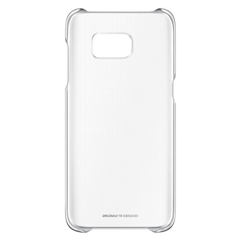 Samsung - Carcasa Clear Cover Plateado para Galaxy S7 Edge