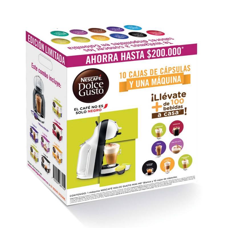 Dolce Gusto - Combo Máquina Multibebida Mini Me Blanca + 10 cajas de cápsulas