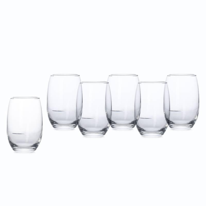 Mica - Set X 6 Vasos Altos Mikonos Clear