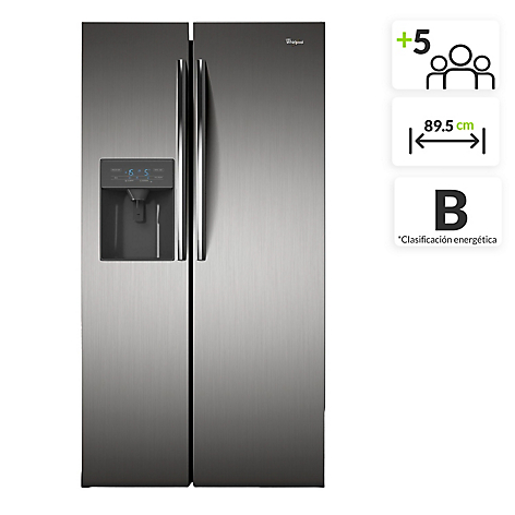 Whirlpool nevera side by side 504 lt wrs49aktww - Nevera side by side ...