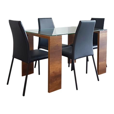 Mica juego de comedor italia 4pts sillas neg for Comedor 4 sillas falabella