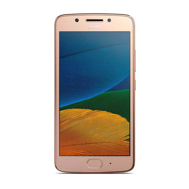 Motorola - Moto G5 Dorado Celular Libre