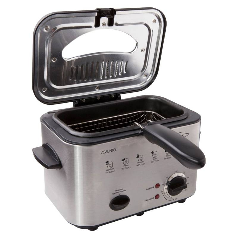 Haceb - Freidora eléctrica con aceite Haceb Assento 1.2 lt