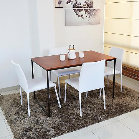 Mica juego de comedor kios 4 puestos mesa cedro for Comedor 4 sillas falabella