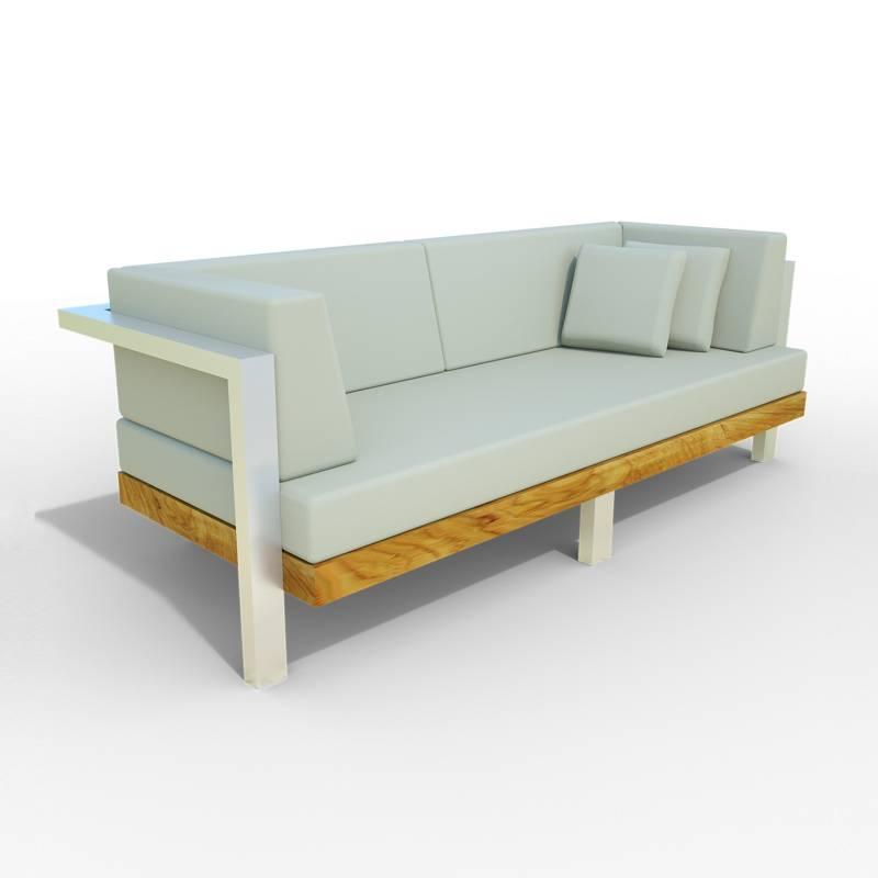 Diseños y Parasoles Tropicales - Sofá de Terraza 1 Puesto Madera