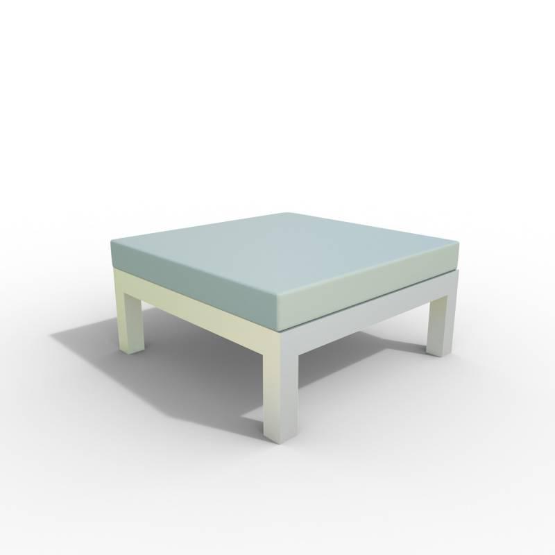 Diseños y Parasoles Tropicales - Puff Montecarlo con Cojín Aluminio