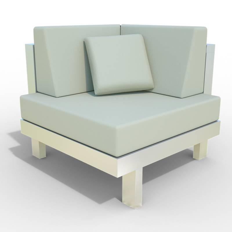 Diseños y Parasoles Tropicales - Poltrona Esquinera Montecarlo Aluminio