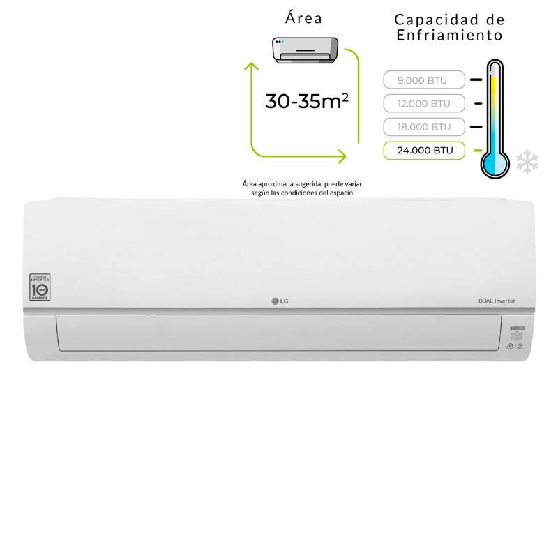 LG - Aire acondicionado DualCool Inverter 24000 BTU 220V-VM182C7