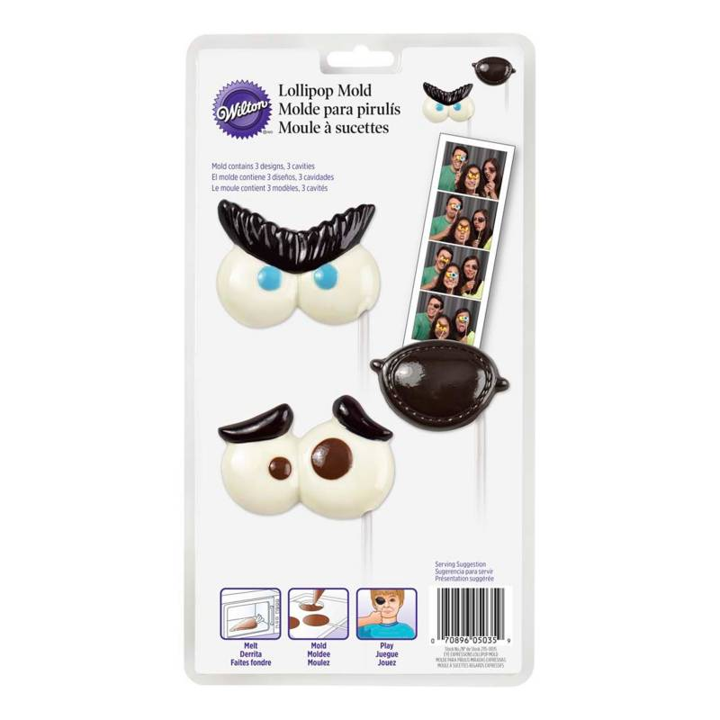 Wilton - Molde Chocolate Expresiones x 3