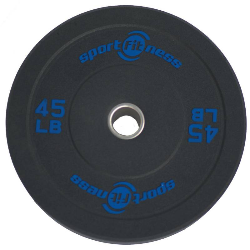 Sportfitness - Disco Olimpico de 45 Libras en Caucho