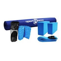 Kit de Yoga con Toalla Color Azul