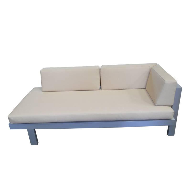 Diseños y Parasoles Tropicales - Sofá Montecarlo Brazo Izquierdo Aluminio