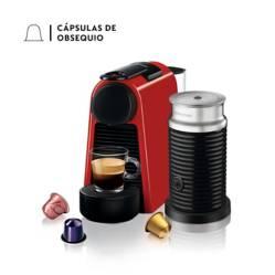 Combo Cafetera Essenza Mini  Rojo +  Espumador de Leche Aeroccino