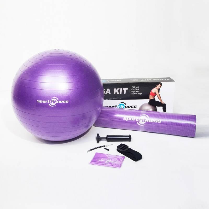 Sportfitness - Kit de Yoga Morado